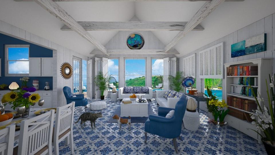 My Seaside Retreat - Living room - by lydiaenderlebell