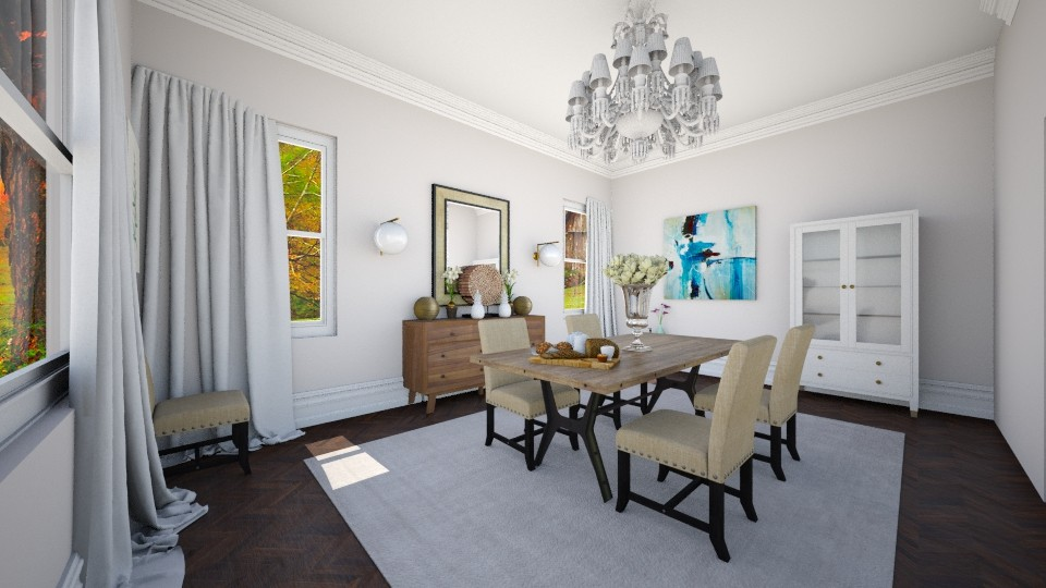white dining - Eclectic - Dining room - by renne