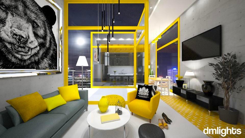 Yellow Circus - Modern - Living room - by KRdesign