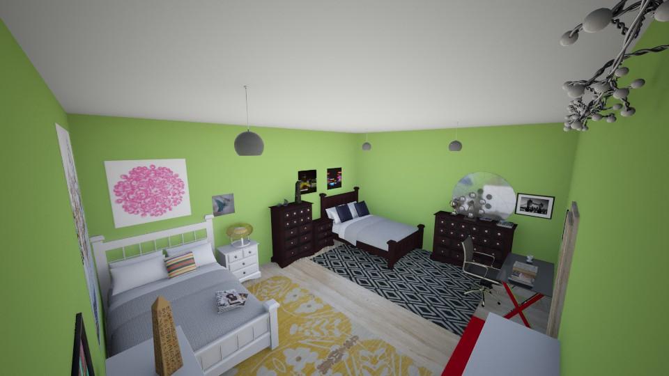 twin 4 - Feminine - Bedroom - by ariaw