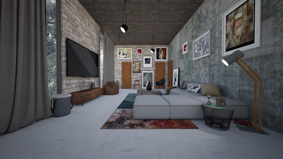 Modern house - by Bastin