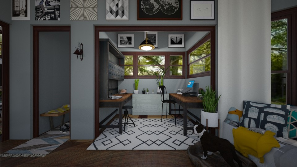 Functional Office Nook - by Jodie Scalf