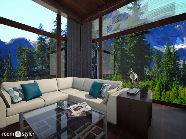 mountain living room - Living room - by AndreaMTorres1