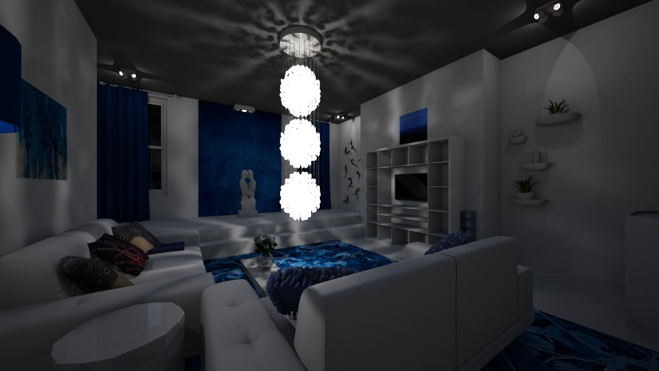 deep blue - Living room - by Lolo Loves Interior Design