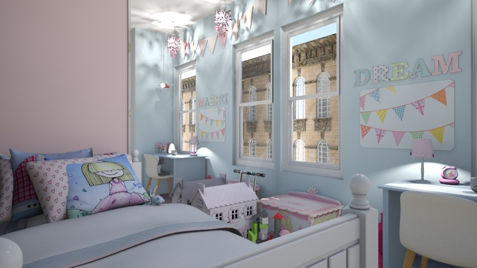 Cheerful Childs Room - Feminine - Bedroom - by _PeaceLady_