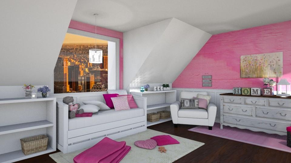 dream attic bedroom v3 - Bedroom - by pingbubbles
