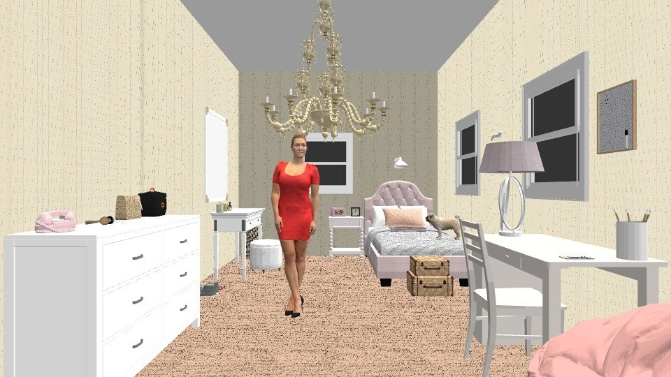 Stellas Bedroom 4th floor - Feminine - Bedroom - by oliviafab