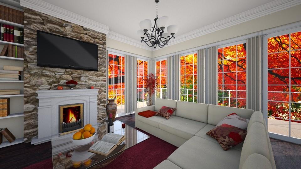 its fall - Living room - by tiffmonaee