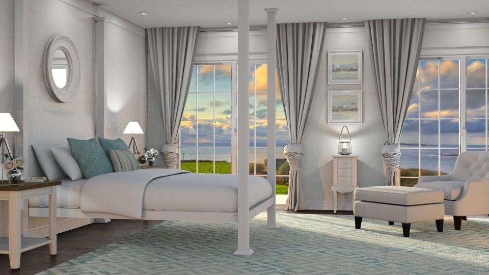 Coastal Cottage - Bedroom - by GraceKathryn