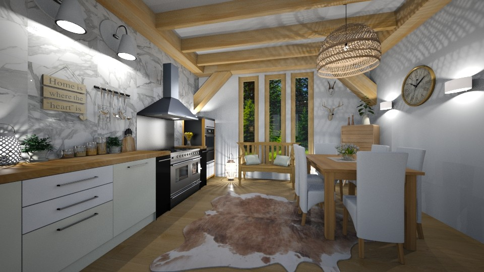 Scandinavian kitchen - by evelyn19