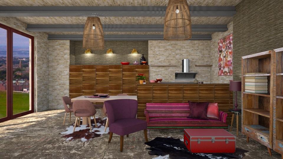rustic 4 - Living room - by macus