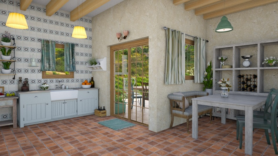 Tuscany kitchen - Dining room - by aurora dobric