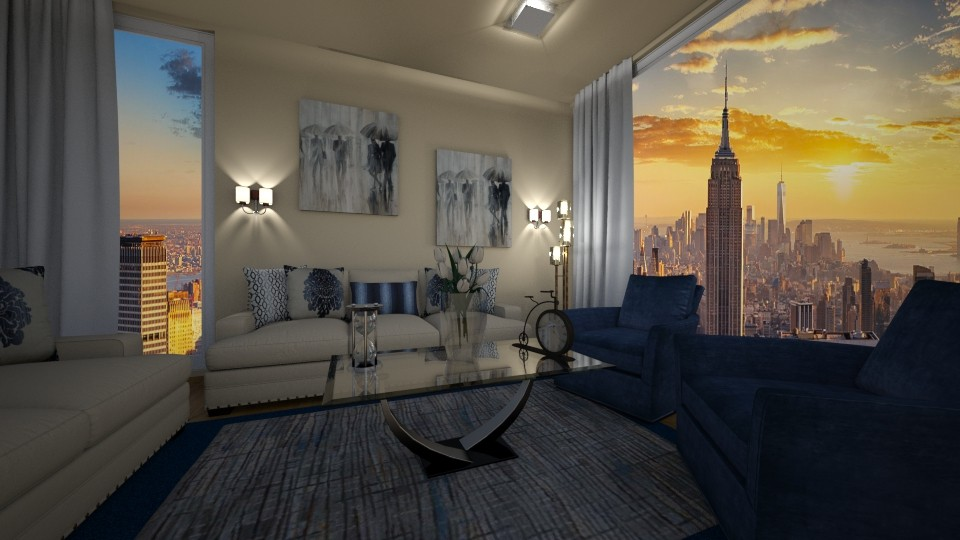 NYC Hotel - Living room - by graziapiana123