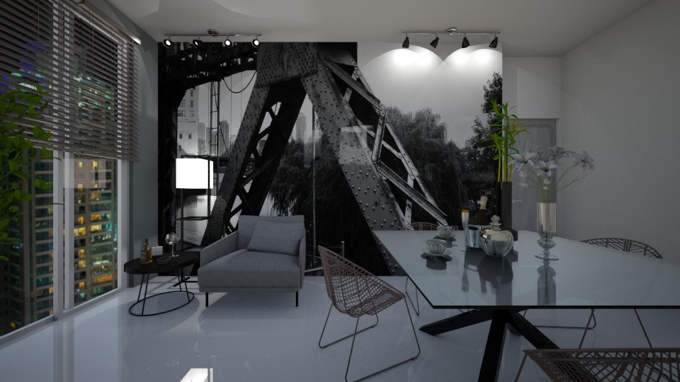 Grey Dining - by cosettevis