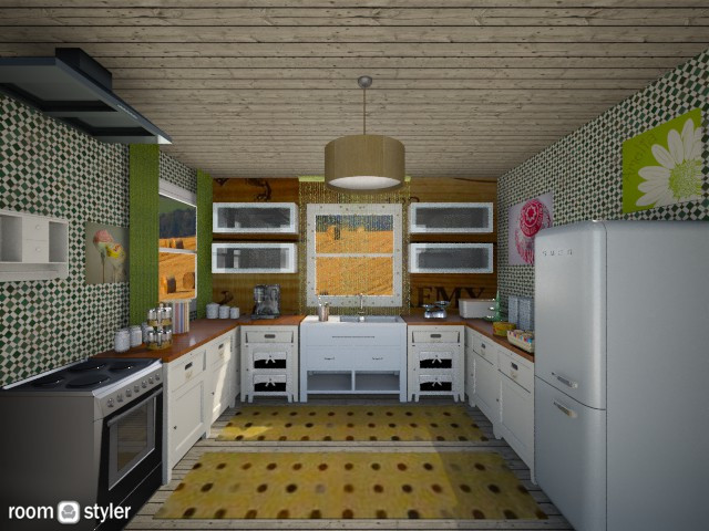 hapiness is a choice - Kitchen - by vesperart