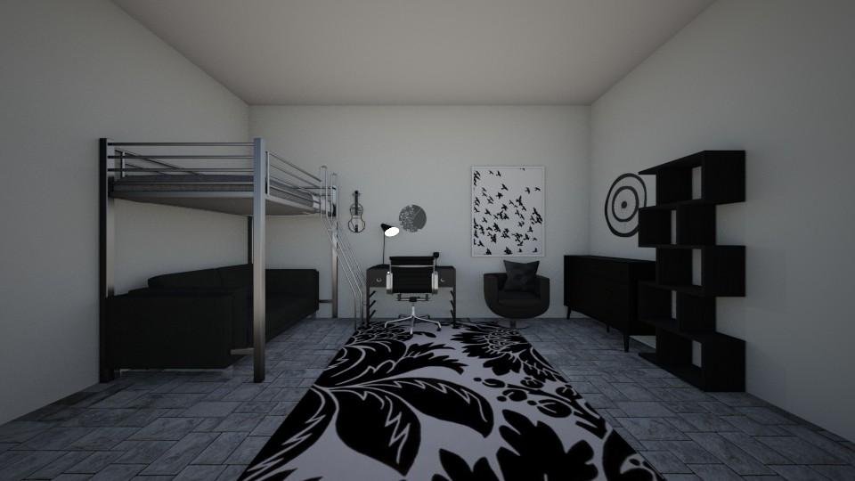 Goth bedroom - Bedroom - by Crazy cat girl 10