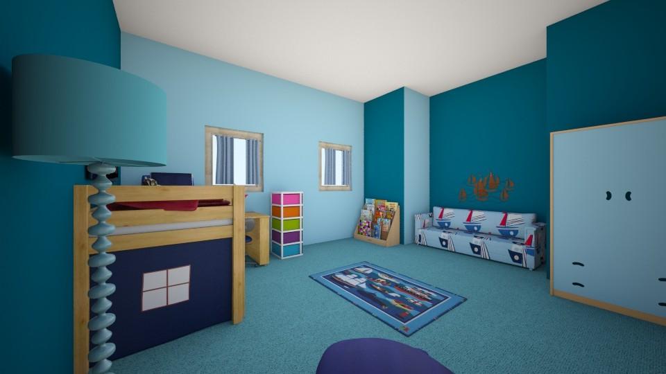 set sail sweet dreams  - Feminine - Kids room - by bov