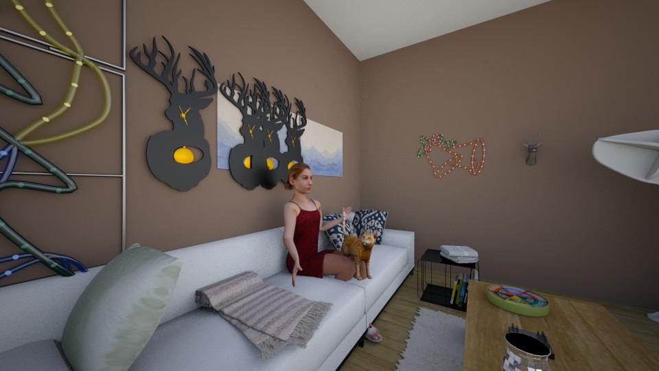 salon enola 3 - Living room - by Alyce Design concept