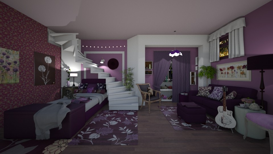Basement Bed Living Room - Classic - by Kelly Carter