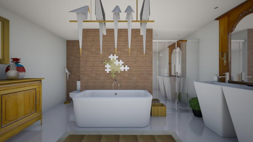 novo banheiro - Bathroom - by Tainaraa