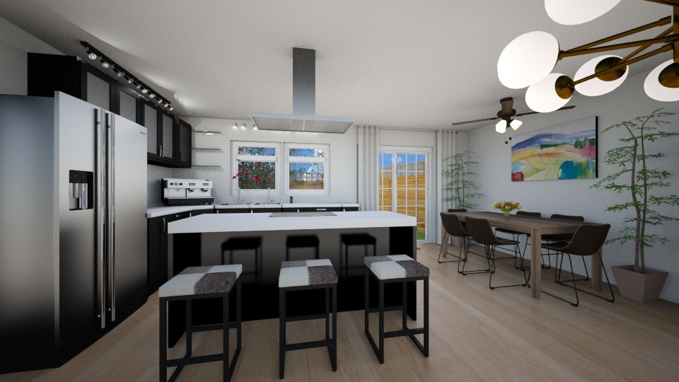 Kitchen Bar Combined - Kitchen - by gracesteban