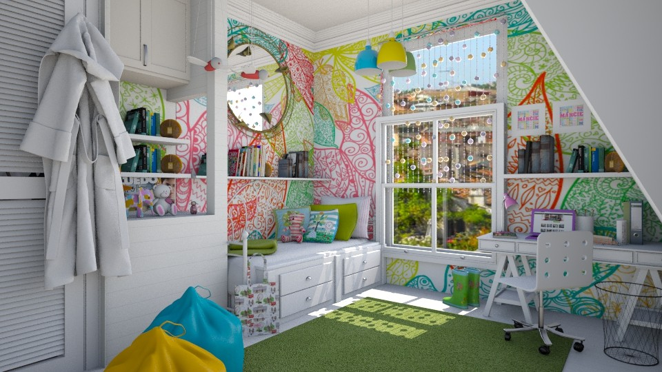 bright leaves - Feminine - Kids room - by donella