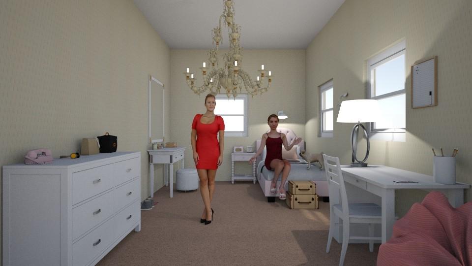 Stellas Bedroom 4th floor - Feminine - Bedroom - by oliviafab