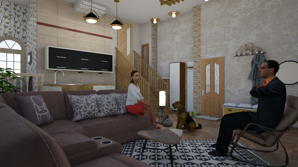 living room - Rustic - Living room - by nat mi