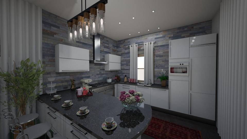 StoneWall - Modern - Kitchen - by tena9
