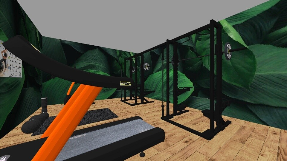 Palm leaf Gym - by The funfun girl