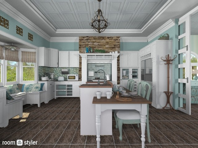 Aqua Dreams - Country - Kitchen - by starsector