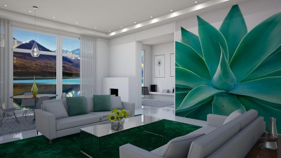 Mural - Living room - by yonvie