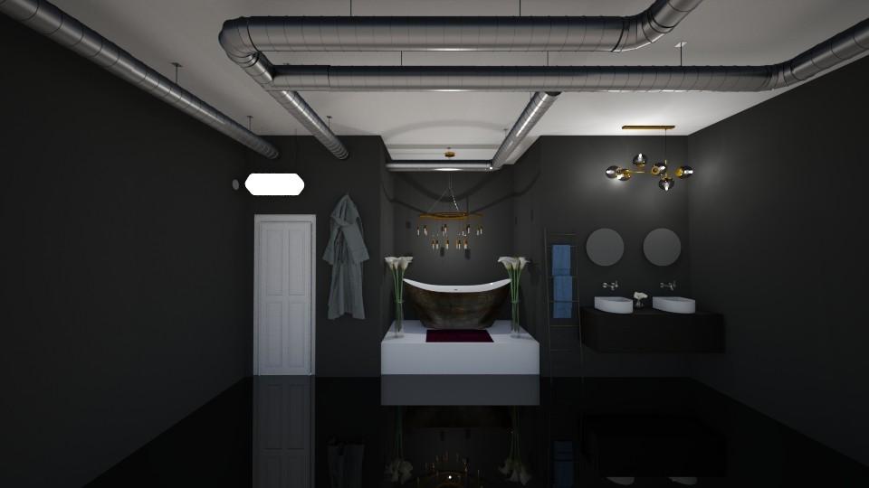Dark bathroom - Bathroom - by Ellie665