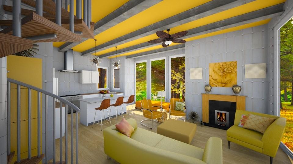 Oak Ridge Orange - Living room - by Sher02