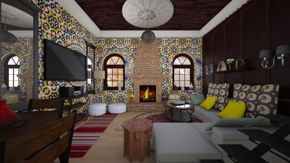 Morocco design  - Living room - by Hanane Haidoune