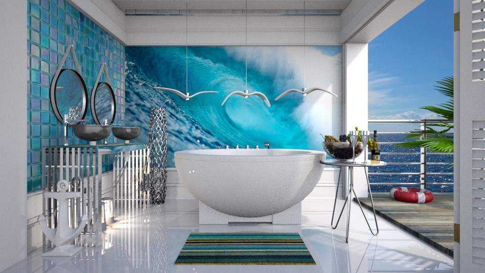 nautical  - Modern - Bathroom - by Ida Dzanovic
