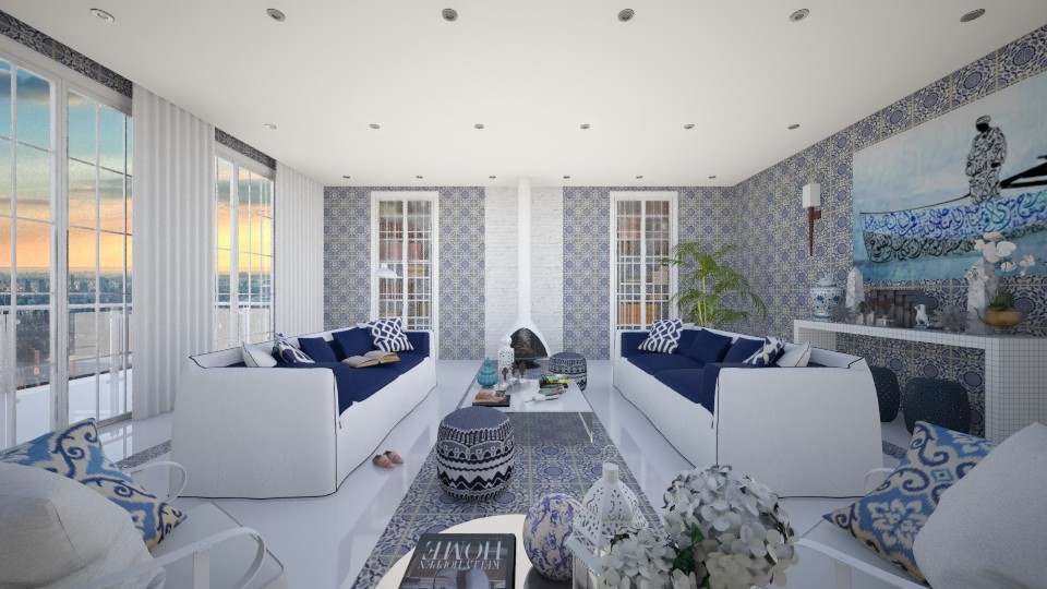Modern Moroccan - Modern - Living room - by AlSudairy S