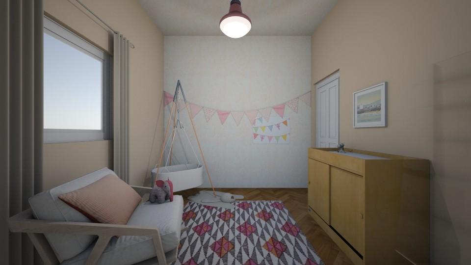 Pink Nursery - Rustic - Kids room - by Ster