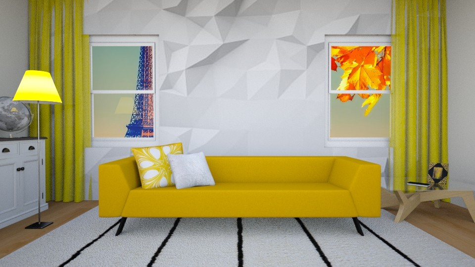 Simply Golden - Living room - by Snowy Tiger