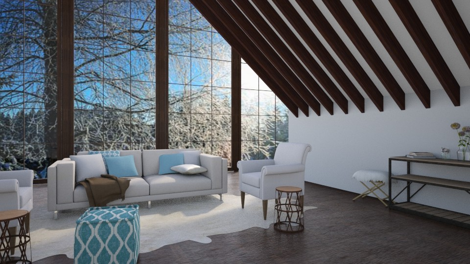 Snowy - Rustic - Living room - by millerfam
