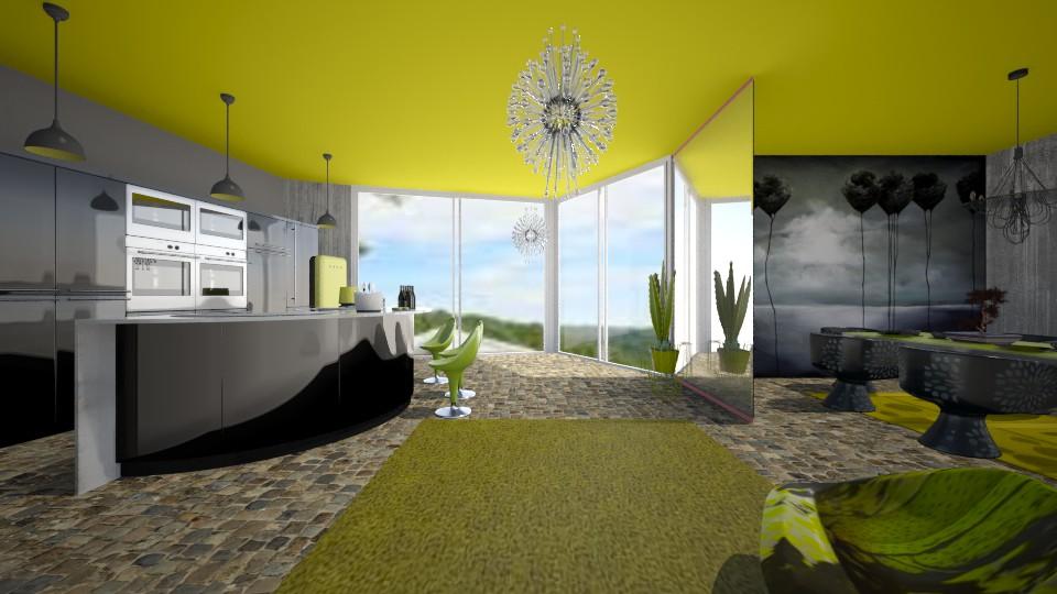 Noir Kitchen Divine - Kitchen - by Interiors by Elaine