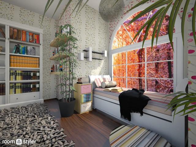 Book Nook - Feminine - Living room - by Teti