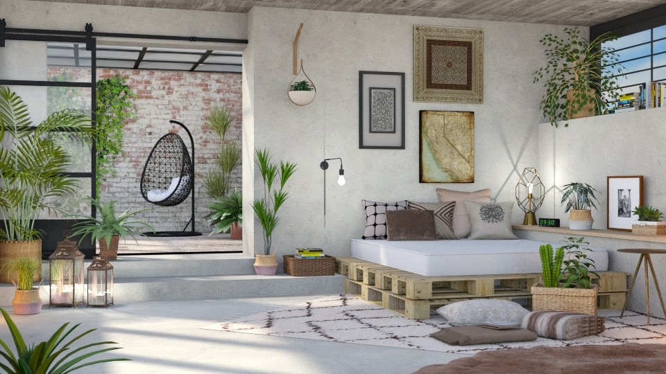 Urban Jungle Bedroom - Bedroom - by LB1981