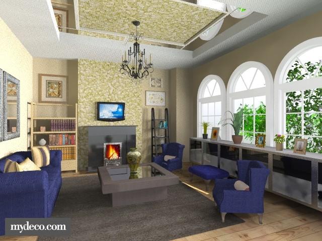 Feeling Royal Blue - Living room - by dredre1030