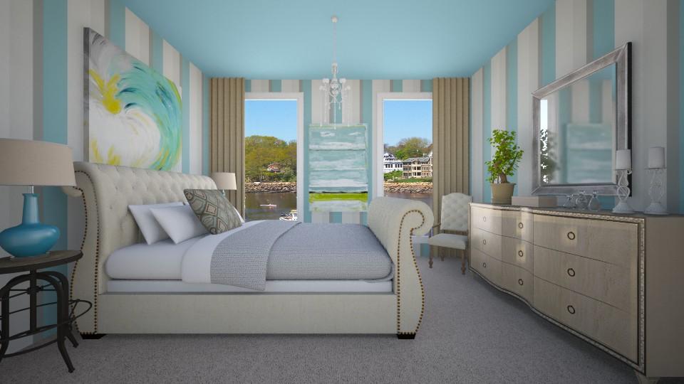 Lake House - Bedroom - by VeroDale
