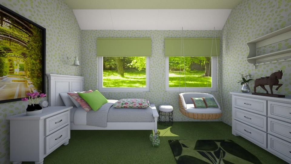 green leaf bedroom - Bathroom - by Phospective