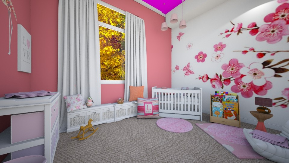 Pink bedroom  - by fiabelle