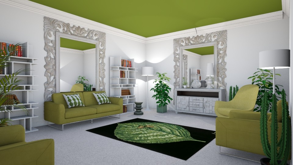 Green Scheme - Living room - by KarmaKitten
