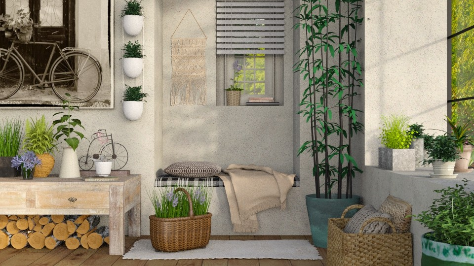 Spring 2 - Rustic - Living room - by Sally Simpson