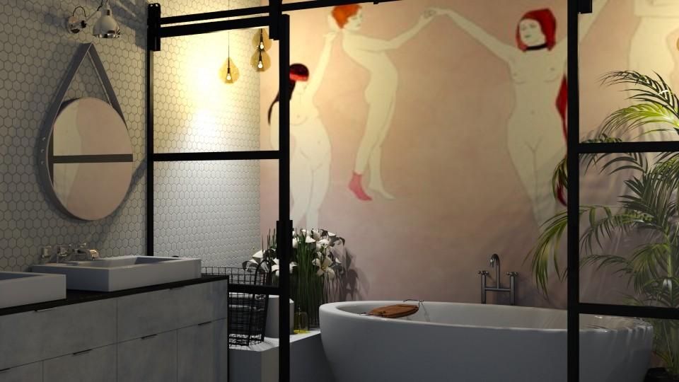 barn door - Vintage - Bathroom - by Ripley86